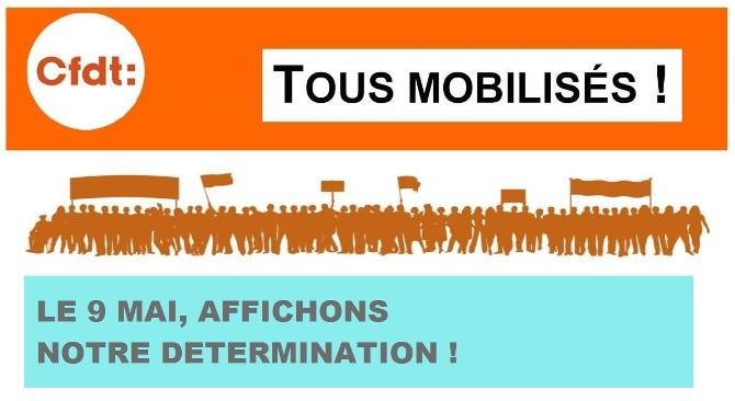 CFDT - 9 mai : Mobilisation de la CFDT pour la Fonction
